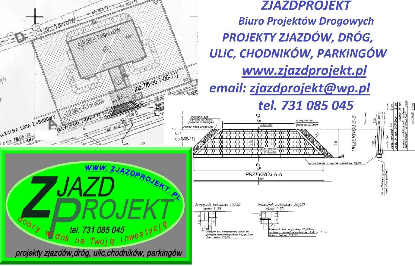 Wspólne Projekt zjazdu z drogi - ZJAZDPROJEKT-projekty drogi, chodnika  #XX-35